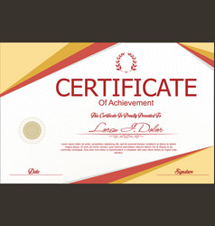 Modern certificate or diploma template 7 vector