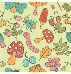 Mushroom background vector