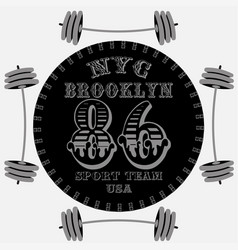new york brooklyn sport wear typography emblem t vector image