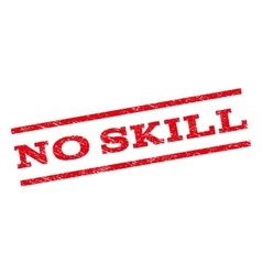 No Skill Watermark Stamp vector image