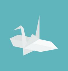 origami paper cranes flat design icon vector image