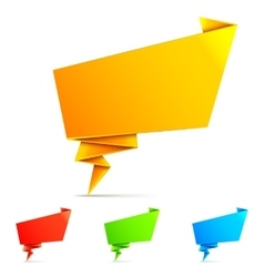 Origami Paper Speech Bubbles vector image