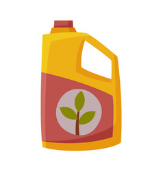 Packaging with gardening fertilizer flat style vector
