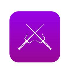 Pair sai icon digital purple vector