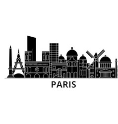 Paris architecture city skyline travel vector