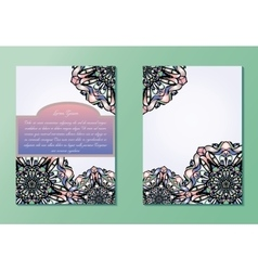 Pastel pink and purple brochures or flyers or vector