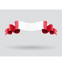 Peruvian wavy flag vector