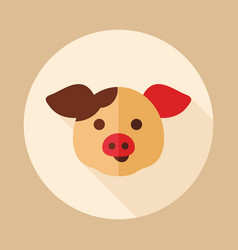 Pig icon animal head vector