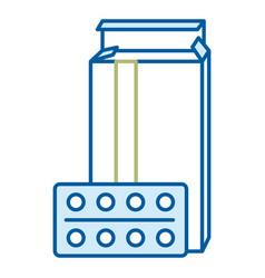 Pills drugs in box vector