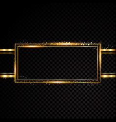 Rectangle frame shining circle banner vector