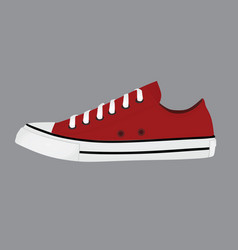 red sneaker shoe vector image