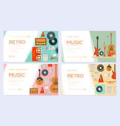 retro equipment music set traditional melody vector image