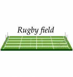 rugby field vector image