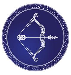Sagittarius sign horoscope astrology vector