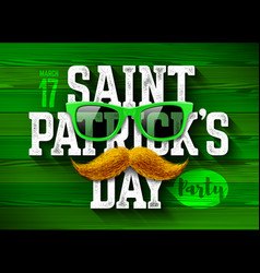 saint patricks day feast of patrick party vector image