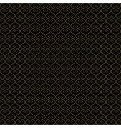 seamless - gold oriental lattice vector image