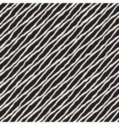 Seamless Hand Drawn Diagonal Wavy Lines vector