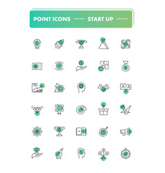 set of 30 line icons start up vector image