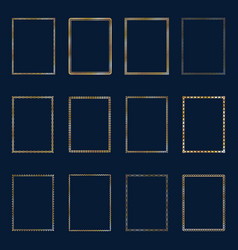 Set of luxury golden frames and borders vector