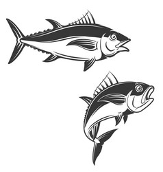 Set of tuna icons vector