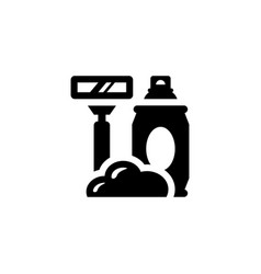 Shave isolated icon vector