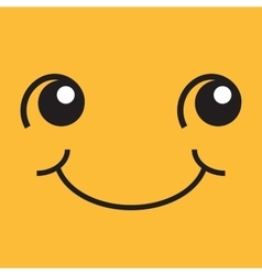 Smiling face with eyes and mouth vector