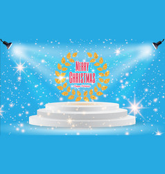 Spotlights scene light effects with snowflakes vector