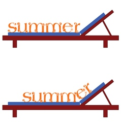 Summer chairs for a beach vector