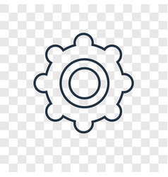 tambourine concept linear icon isolated on vector image