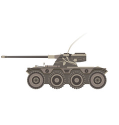 tank military war army armored flat background vector image