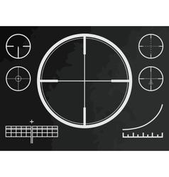 Telescopic sight cross of sniper gun or drone vector image