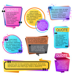 various modern quote shapes set vector image