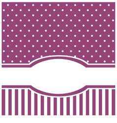 Violet card or invitation with white polka dots vector