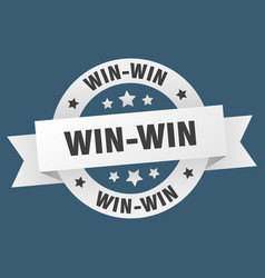 win-win ribbon win-win round white sign win-win vector image