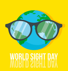 World retina day concept background flat style vector