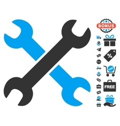 Wrenches Icon With Free Bonus vector