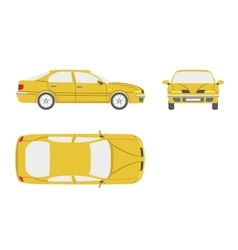 Yellow car on a white background vector image