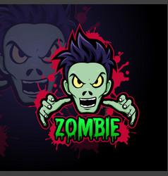 Zombie logo for esports team vector