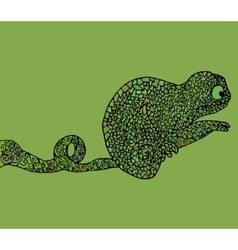 Abstract chameleon african vector