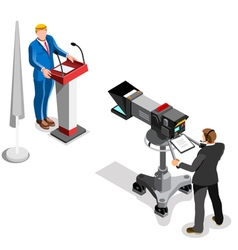 Election News Infographic Presidential Isometric vector image vector image
