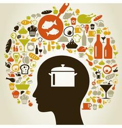 Head food5 vector image vector image