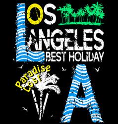 los angeles typography design vector image vector image