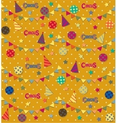 Retro circus seamless pattern vector image