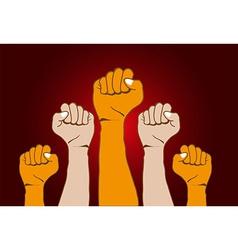 Revolution Hands background vector image