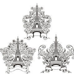 Stylized Eiffel Tower vector image vector image