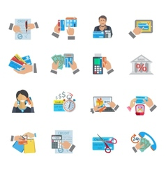 Credit Life Icon Flat vector image vector image