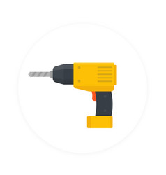 electric screwdriver icon flat style vector image vector image