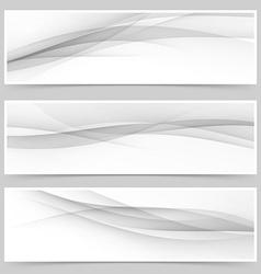 Grey soft line web header collection vector image