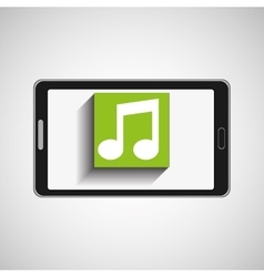 smartphone technology music digital vector image