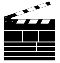 clapperboard logo vector image